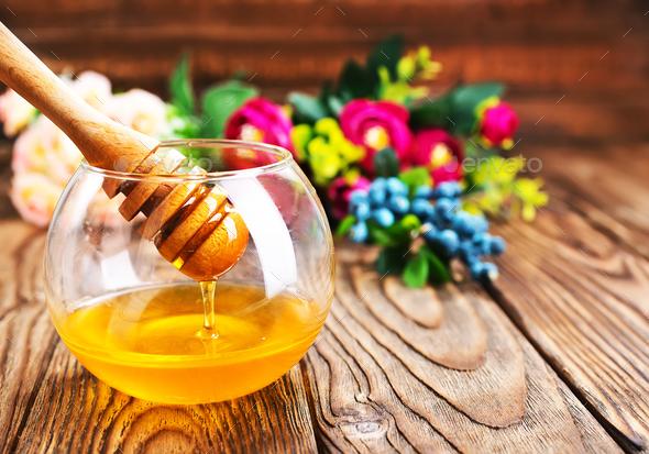 fresh honey - Stock Photo - Images