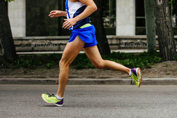 one runner man  - Stock Photo - Images