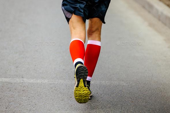 back feet men runner - Stock Photo - Images