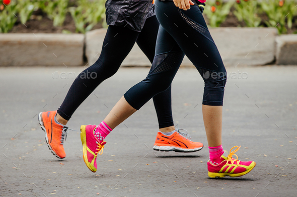 two young girls running - Stock Photo - Images