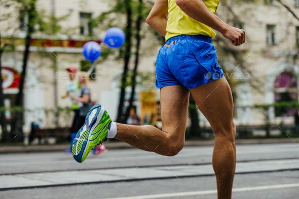 feet male athlete runner - Stock Photo - Images
