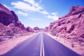 Color toned desert canyon road, Nevada, USA. - PhotoDune Item for Sale