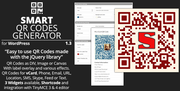 Smart QR Codes Generator