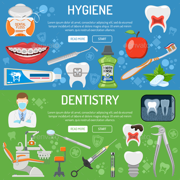 Dental Services Banners - Health/Medicine Conceptual