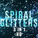 Blue Spiral Glitters