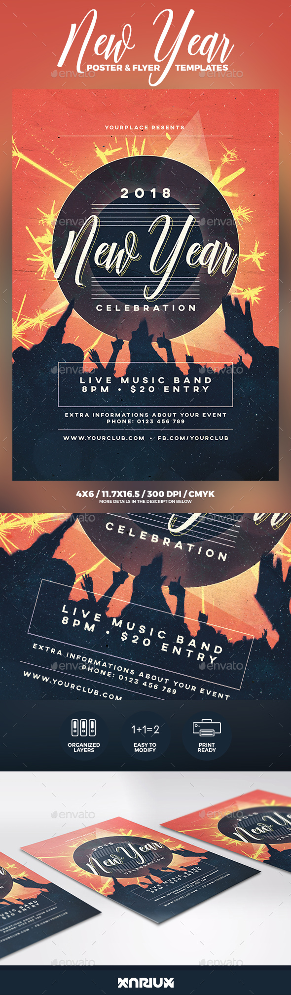 GraphicRiver New Year Party Flyer & Poster 21129705