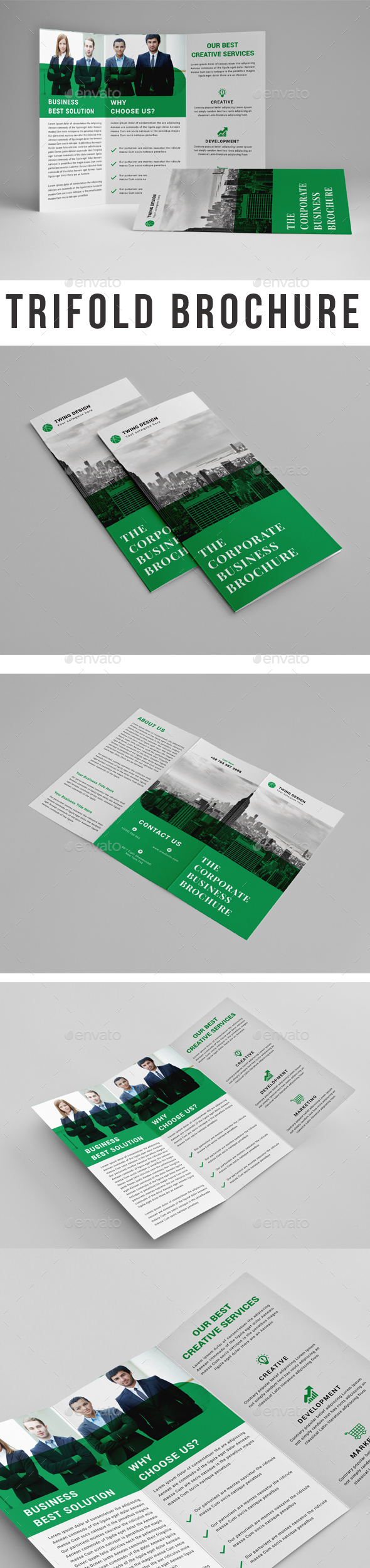 GraphicRiver Corporate Trifold Brochure 21129754