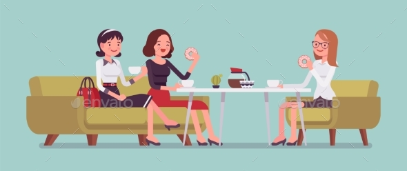 GraphicRiver Girls Sitting in a Cafe 21129762