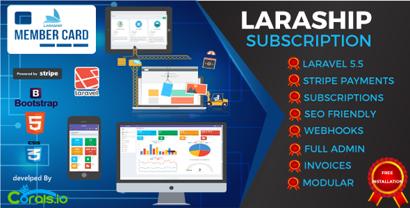Laraship SAAS - Laravel Powerful Administration, Subscriptions, Content Management,And More - CodeCanyon Item for Sale