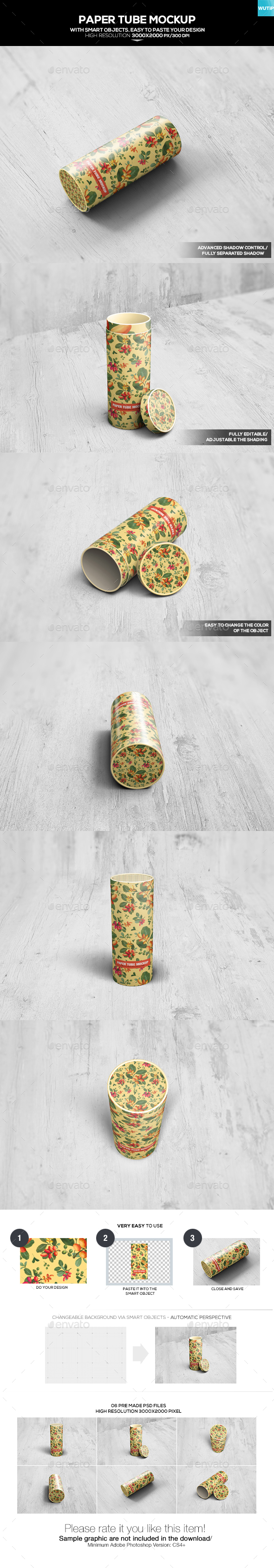 Paper Tube Mockup - Food and Drink Packaging