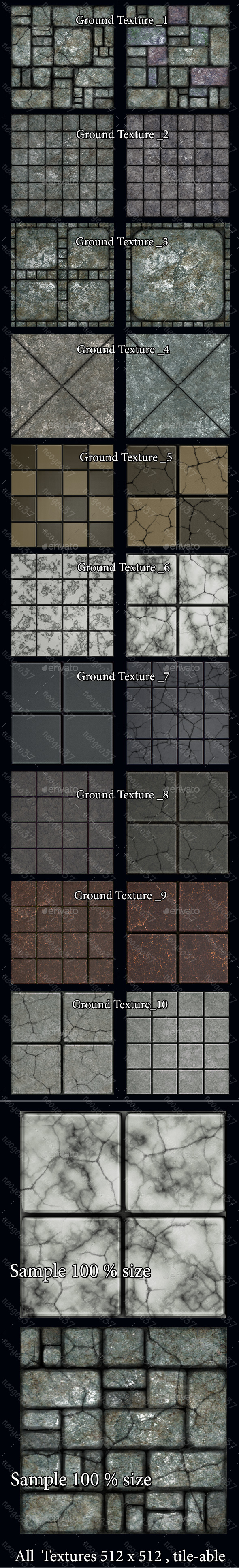 Ground Floor Textures - Miscellaneous Game Assets