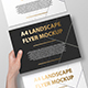 A4 Landscape Flyer / Poster Mockup - Foil Stamping Edition - GraphicRiver Item for Sale