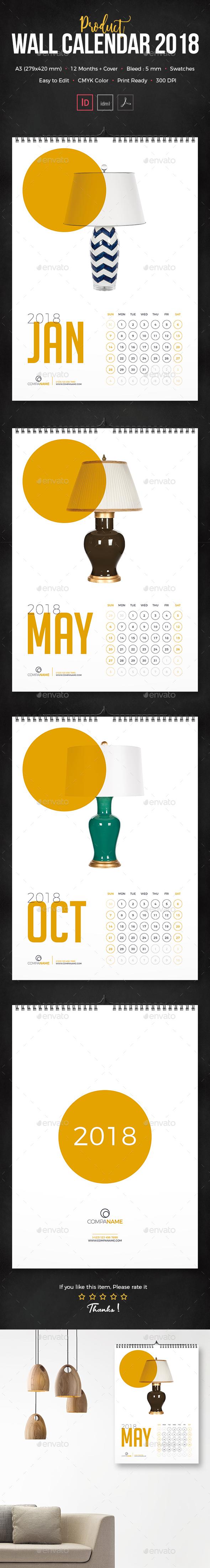 Product Calendar 2018 - Calendars Stationery