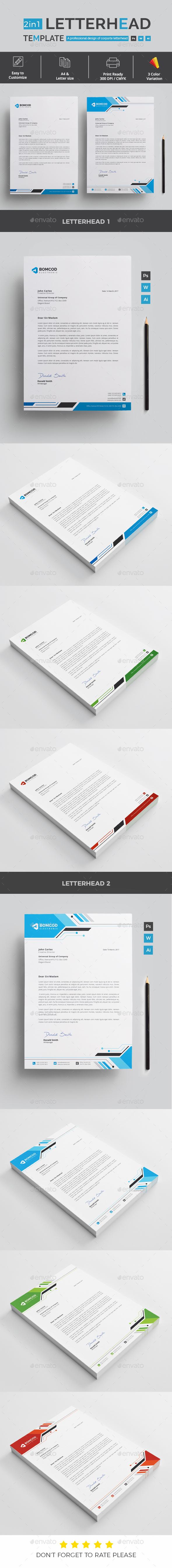 GraphicRiver Letterhead 21127446