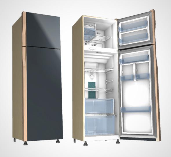 modern Refrigerator - 3DOcean Item for Sale