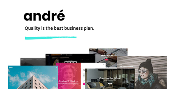 André - A Contemporary WordPress Theme for Small Business Owners and Creatives - Creative WordPress