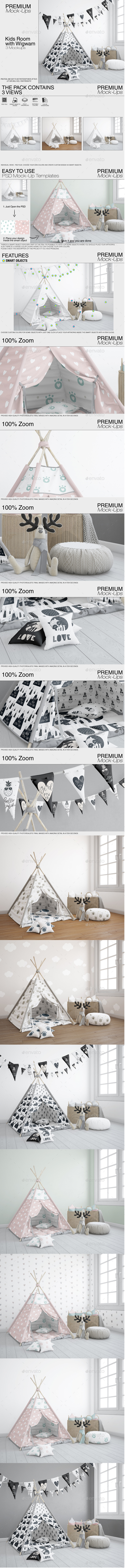 GraphicRiver Kids Room Kids Wigwam 21130480
