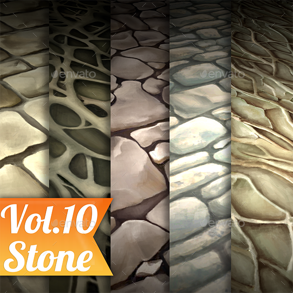 3DOcean Stone Vol.10 Hand Painted Texture Pack 21130669