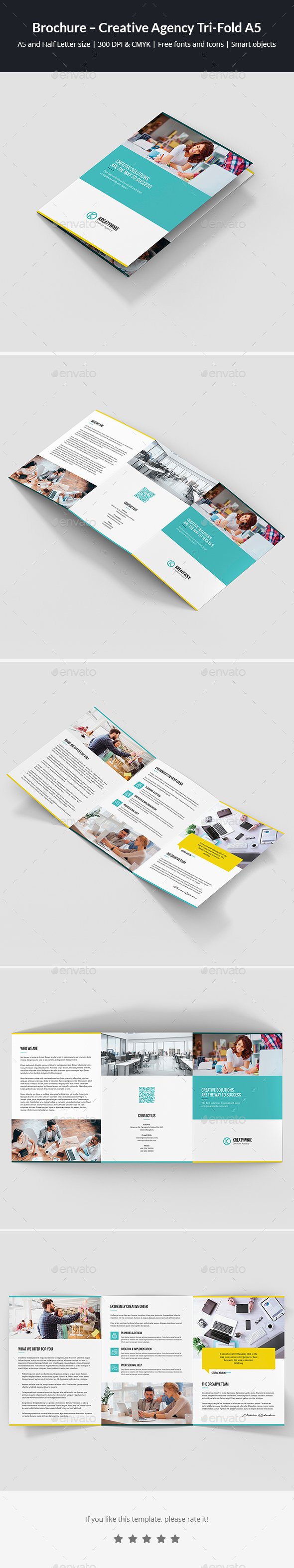 Brochure – Creative Agency Tri-Fold A5 - Corporate Brochures