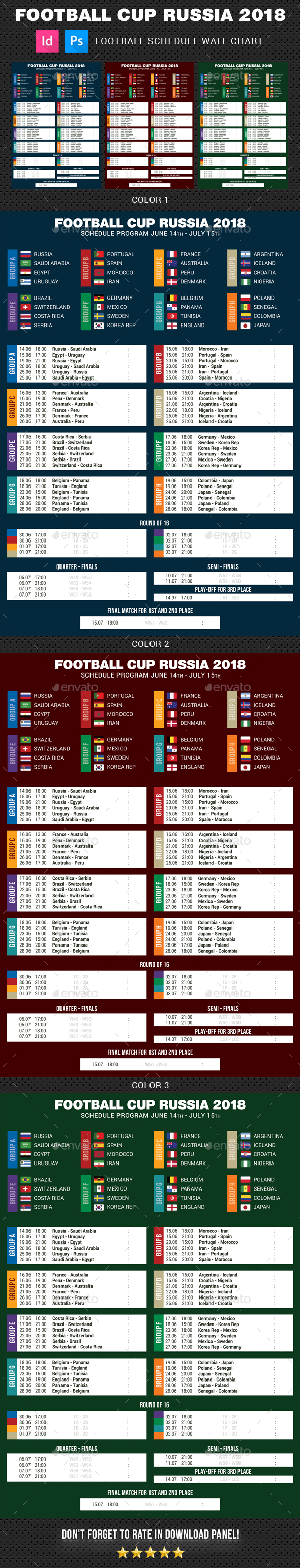 Football Cup Russia 2018 Schedule - Sports Events