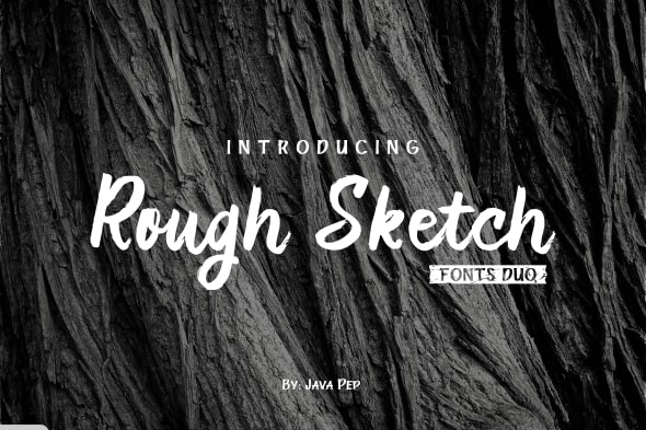 Rough Sketch - fonts duo - Hand-writing Script