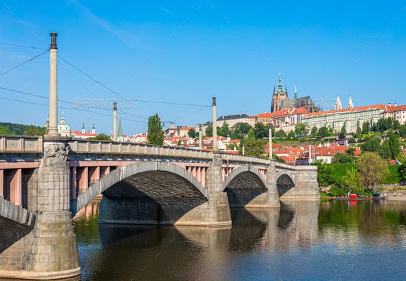 Manes Bridge in Prague - Stock Photo - Images