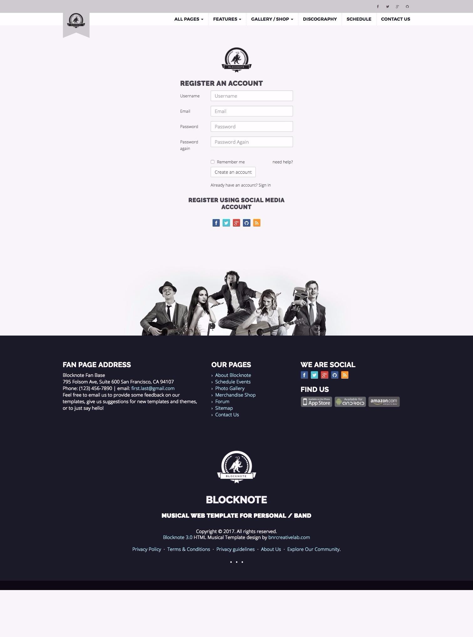 website schedule template