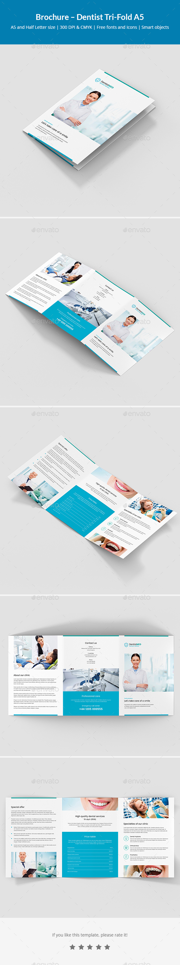 GraphicRiver Brochure Dentist Tri-Fold A5 21130947