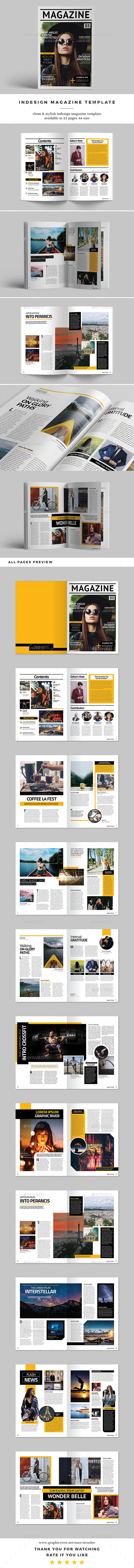 InDesign Magazine Template by siroolee | GraphicRiver