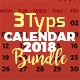 2018 Calendar Bundle Templates