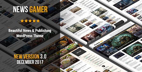 News Gamer - A Newspaper Publishing Theme