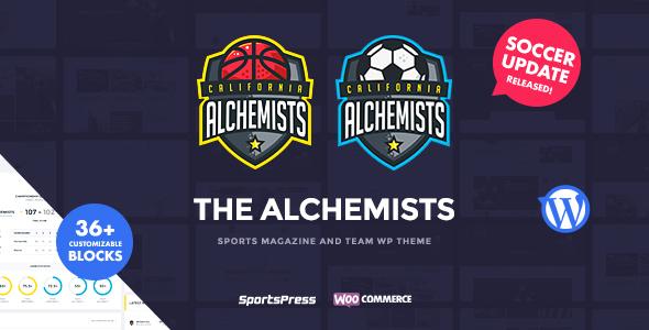Image of Alchemists - Sports Club and News WordPress Theme
