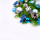 Christmas greeting with silver, pale blue and turquoise balls, g - PhotoDune Item for Sale