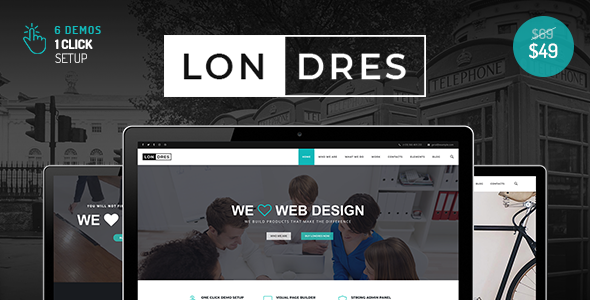 Image of Londres - Stylish Multi-Concept WordPress Theme