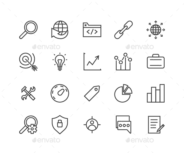 GraphicRiver SEO Line Icons 21131206