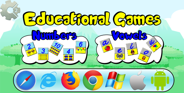 CodeCanyon Numbers and Vowels Educational Games HTML5 and Mobile 21131207