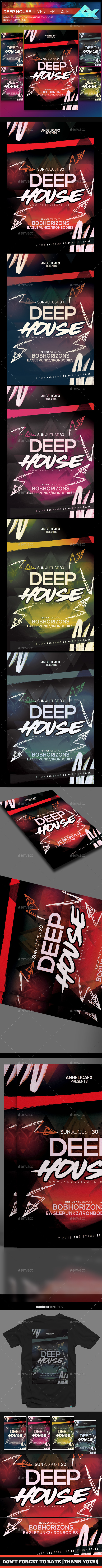 GraphicRiver Deep House Flyer Template 21111848
