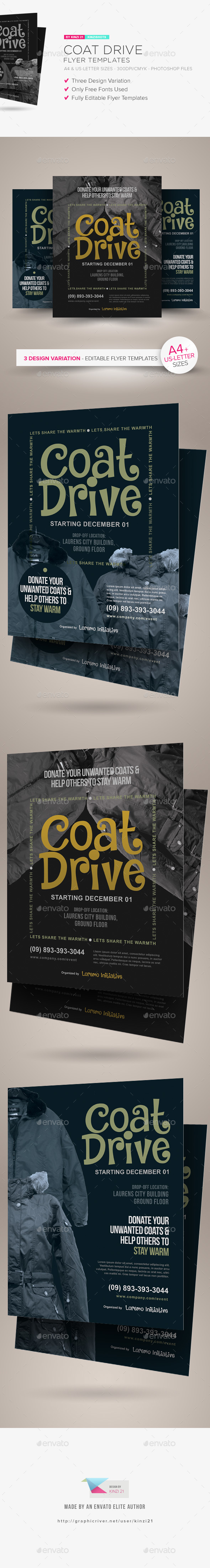 Coat Drive Flyer Templates - Miscellaneous Events
