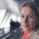 Young Blond Woman Is Riding on the Travelator - VideoHive Item for Sale