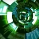 3D Flight in Green Optic Tunnel Data Processing - VideoHive Item for Sale
