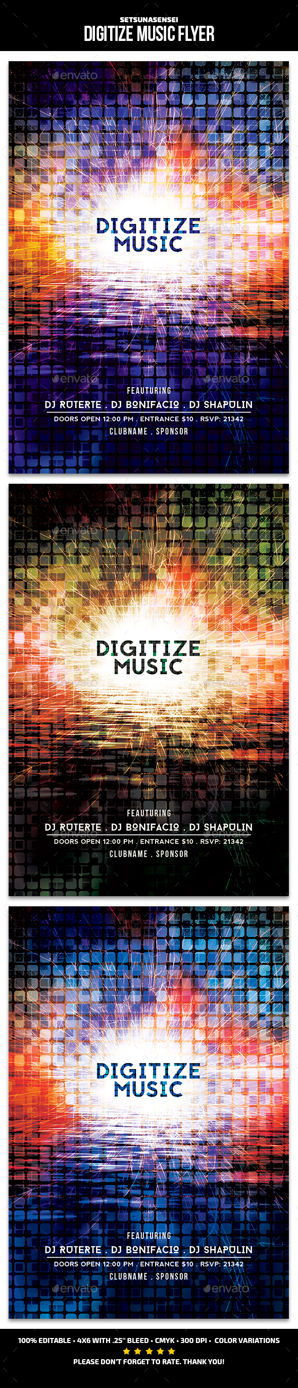 GraphicRiver Digitize Music Flyer 21131290