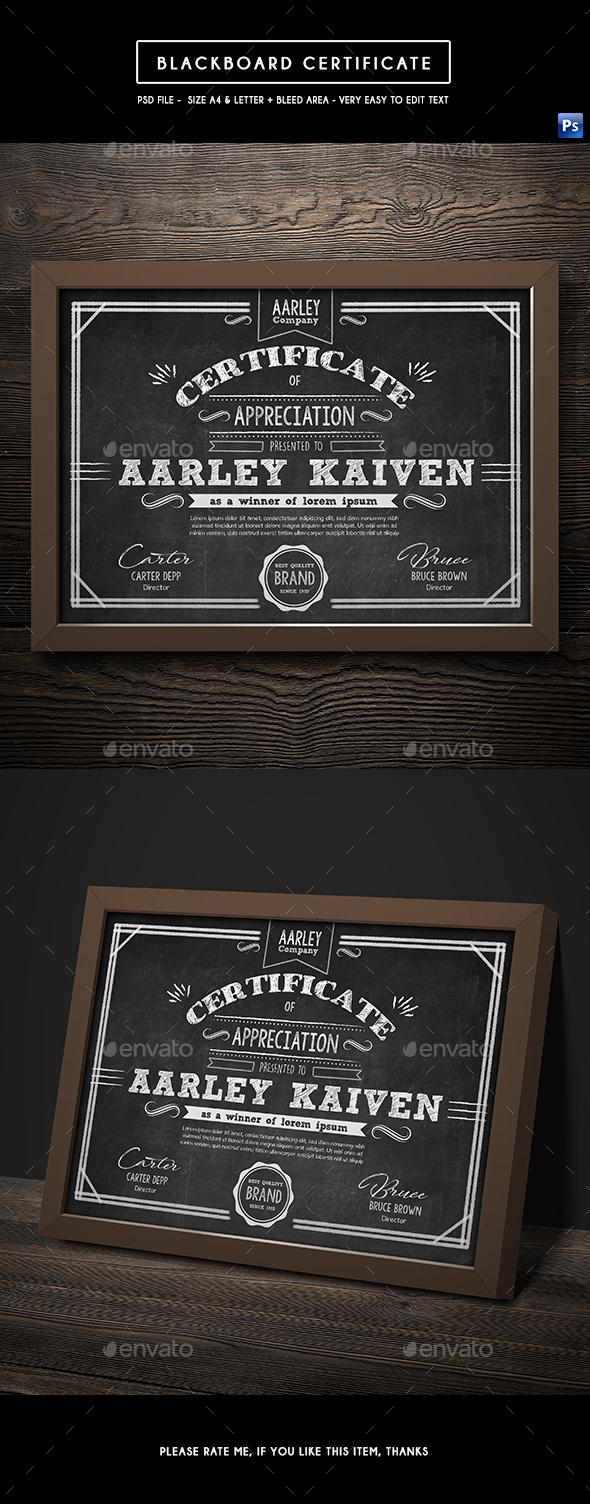 Blackboard Certificates - Certificates Stationery