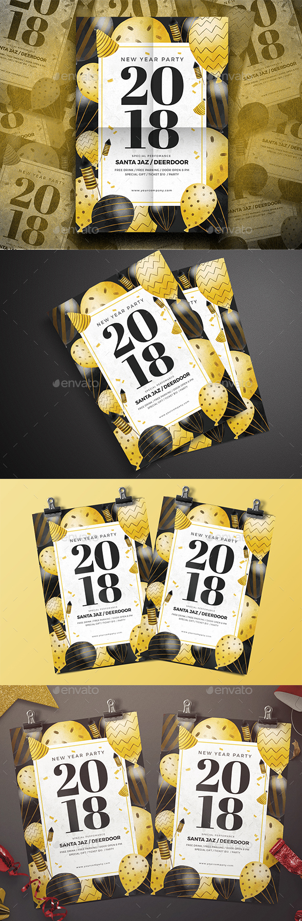 GraphicRiver New Year Party Flyer 21131355