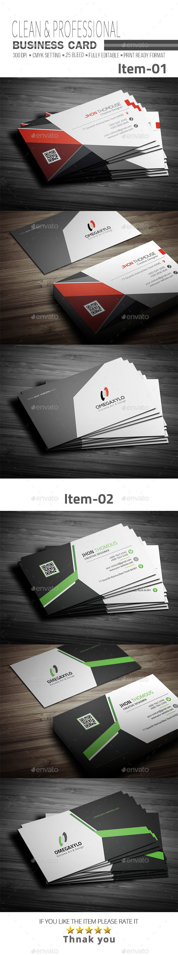 GraphicRiver Business Card Bundle 2 In 1 21131481