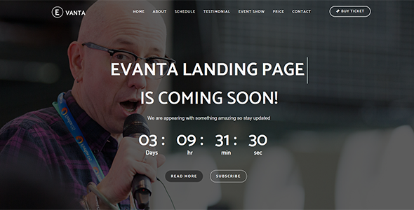 Image of Evanta - Responsive Event Landing Page