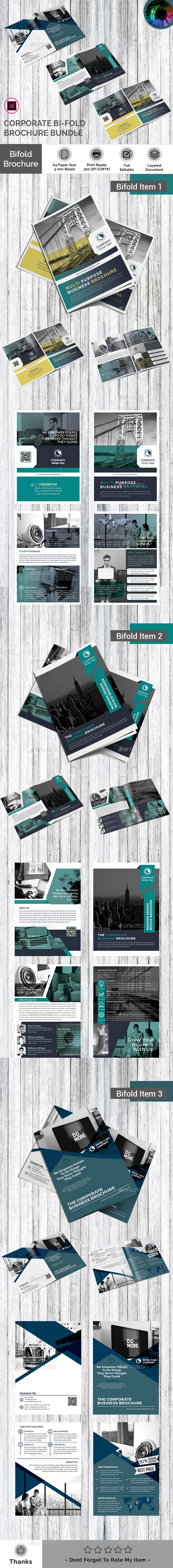 GraphicRiver Bi fold Brochure Bundle 21131569
