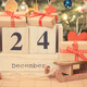 Date 24 December on calendar, wrapped gifts and christmas tree - PhotoDune Item for Sale