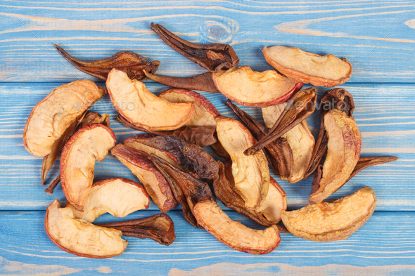 Dried apple and pear for preparing compote of dried fruits, healthy nutrition concept - Stock Photo - Images
