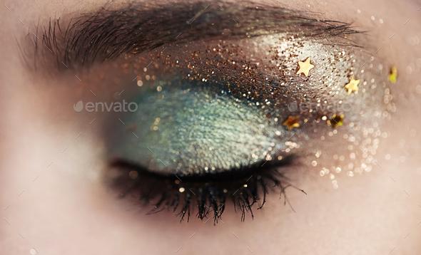Beautiful woman eye - Stock Photo - Images