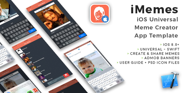 iMemes | iOS Universal Meme Creator App Template (Swift) - CodeCanyon Item for Sale